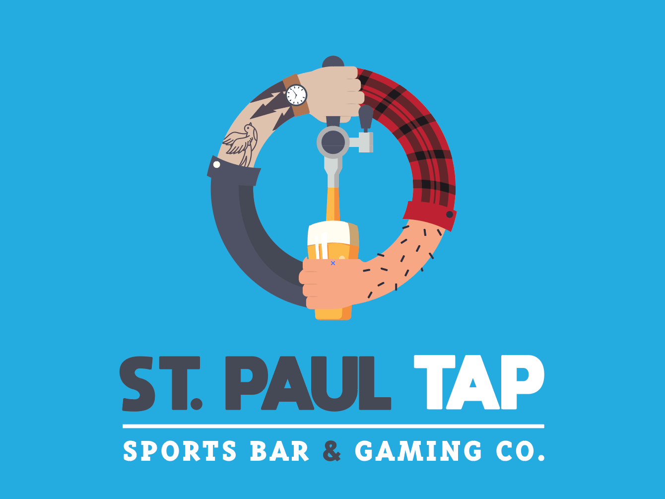St.Paul Tap Logo vector illustraor brewing logo beer