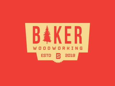 Baker Woodworking woodworking illustrator vector logo