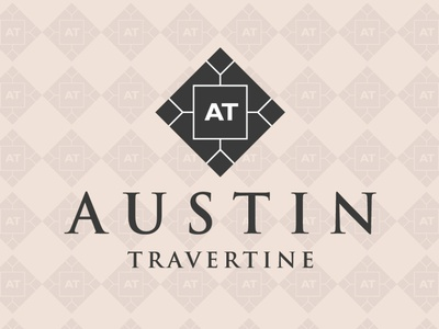 Austin Travertine Logo Design || Creative logo Design. illustration vector graphic design stone logo austine travertine company logo branding br business logo creative logo minimalist logo design