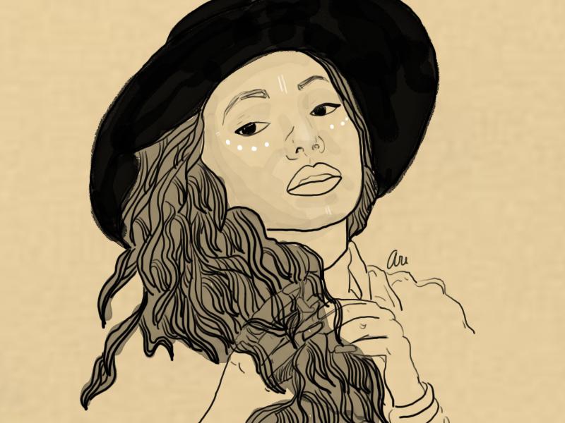 Girl illustration graphic design