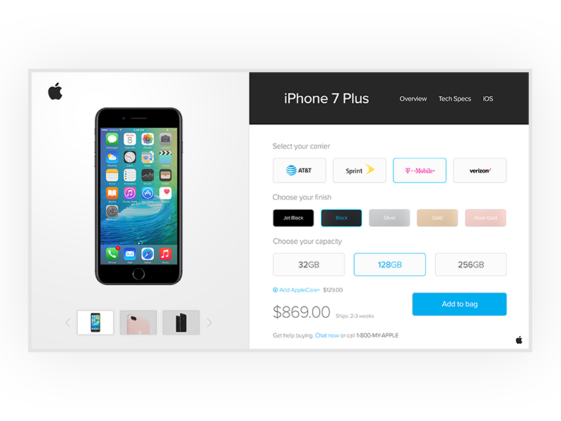 Apple Shopping UI  ux checkout phone button 7 app iphone apple design interface user ui