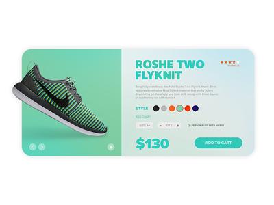 Nike Shopping UI graphic ux shoe store shopping nike design ui interface user