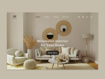 Interior Web Design website design interior design web design uiux 3d animation motion graphics graphic design ui logo flat illustration home clean best design creative branding