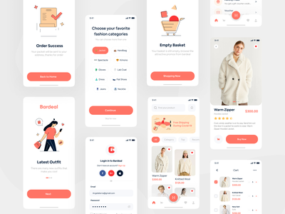 Bardeal E-Commerce UI KIT product marketplace shopping cart cart online shop app discount design ui kit sale shop apps card ux ui mobile design mobile ui mobile app mobile app design mobile