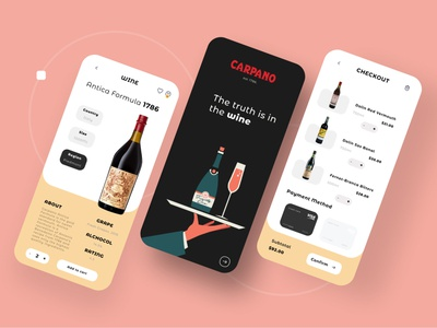 🍷 CARPANO 🍷 - wine ecommerce app ui graphic design interface interfaces interfacedesign uxui uxdesigner uxdesignmastery uxdesign uiux ui design dribbble dailyui user interface uxresearch user interface design userinterface uiuxdesigner uidesign graphicdesign design