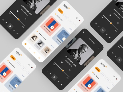 Audible App - concept app design dribbble best shot interface uiux design uiux uiux designer user interface uiuxdesigner graphicdesign dribbble dailyui uxresearch user interface design userinterface uidesign design