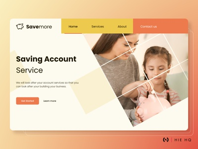 Savemore Landing page finance website fintech branding savings ux design ui design uiux ux ui colors behance branding pattern design banking website landing page finance fintech figma typography dribbble best shot dribbble