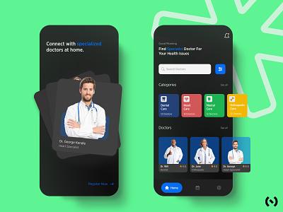Healthcare App branding app design fitness app health app behance minimal typography colors uiux ui design glassmorphism doctor ios app healthcare app ux ui ux design figma dribbble best shot dribbble