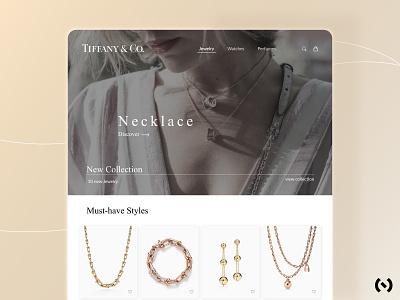 Tiffany & Co. Jewelry graphic design colors minimal tiffany jewelry brand web design landing page branding behance ui design ux ui uiux ux design figma dribbble best shot dribbble