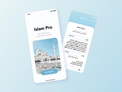 Dzikir App UI islamic app dzikir app app islamic branding graphic design ui design