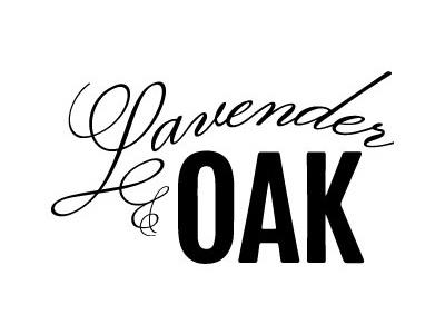 Lavender & Oak Logo 1 logo vintage apothecary script fonts