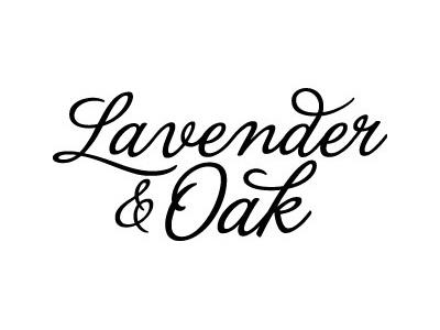 Lavender & Oak Logo 2 logo vintage apothecary script fonts