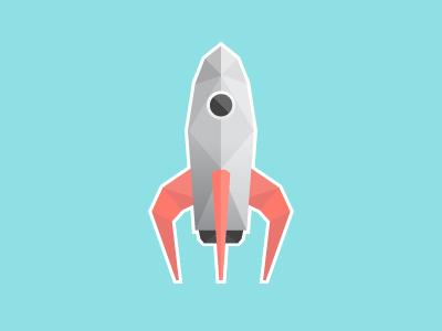 Rocket rocket illustration icon low poly