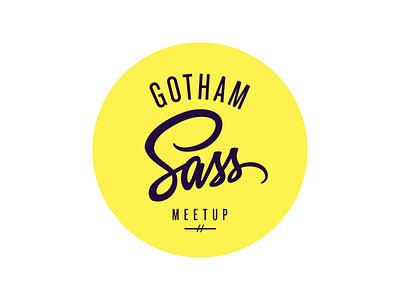 Gotham Sass - Round Color logo typography