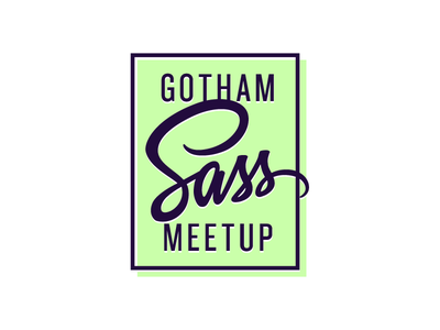 Gotham Sass - Rectangle Color logo typography