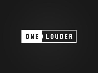One Louder Logo - 2 music guitar simple black amplifiers logo