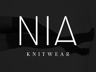 Nia Logo modern fashion branding logo