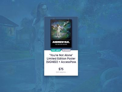 PledgeMusic Item Cards music product card item