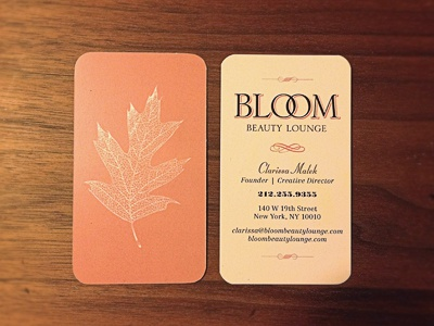 Bloom Business Card By Anthony Cangelosi Dribbble Dribbble