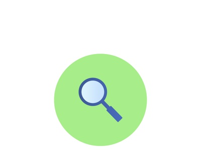Magnifying Glass Office Icon icon gradient magnifying glass gradients folder document flatdesign flat icon flat icons vector gradient office flat