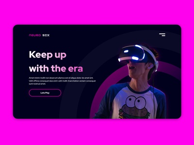 Neuro Six Website - Banner banner landing page gaming uiux ux microanimation animation ui