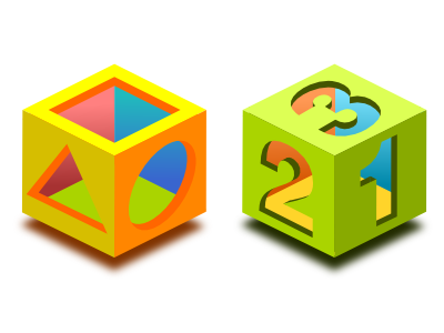 Basic Shape Math Game Icons By Teleb On Dribbble