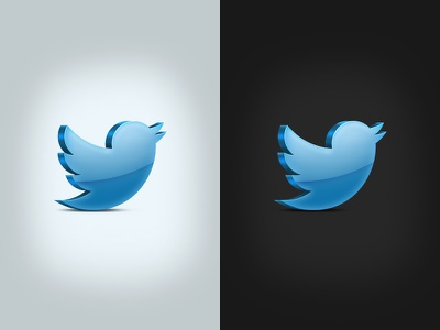 Twitter Icon icon twitter 3d contrast blue shiny