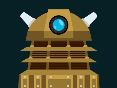 EXTERMINATE!! dalek doctor who exterminate illustration copper vector
