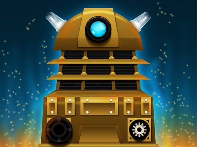 EXTERMINATE!! 2 dalek doctor who exterminate illustration copper vector fire