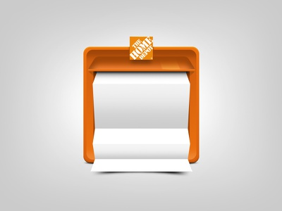 The Home Depot icon mailbox orange paper newsletter icon