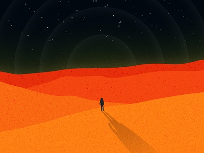 The Martian mars orange dunes space martian poster illustration