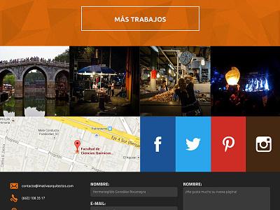 Imativa Arquitectos architects portfolio website grid responsive