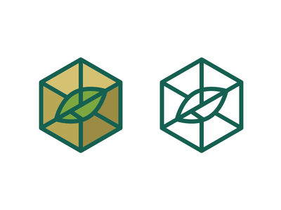 Rejected icon for a logo eco nature recycle outline green leaf ecological package box rejected