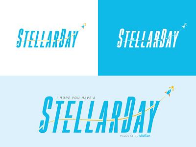 #StellarDay Proposal vector blockchain yellow orange blue stars rocket stellar crypto logo