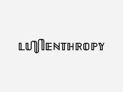 Lumenthropy (rejected proposal) blockchain xlm lumen speakeasy retro philantropy logotype font custom logo type