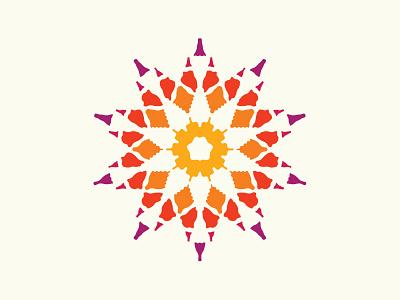 Sun branding vector sunrise colorful sonora desert sunset logo illustration sun