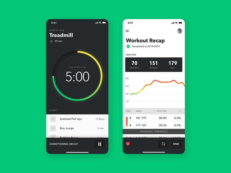 Workout App Exploration clean ux ui typography training app trainer recap tracker workout app