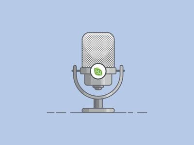 Microphone radio lines vector design microphone mic illustration