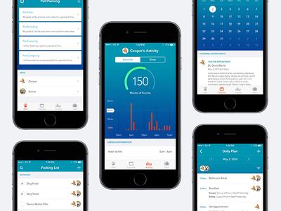 Pet Monitor Application tracking app activity pet ux ui