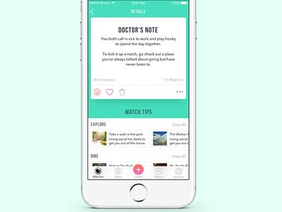 Match Detail Card dating date app design cards ios ux ui