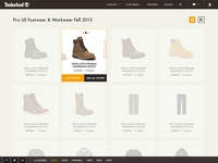 Timberland Product Ordering