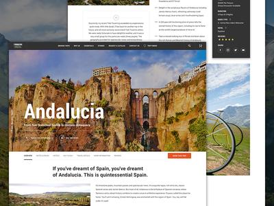 Travel - Exercise website design ux ui trip travel