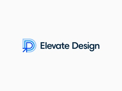 Elevate Design Logo event logo logo design identity typography design ui conference summit branding logo