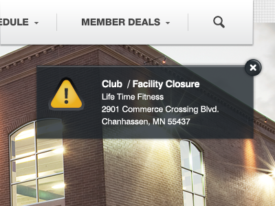 Closure notification