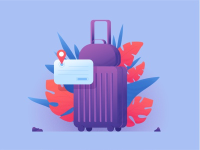 Suitcase. Travel. Vector picture traveling suitcase bag чемодан illustration digital adobe illustrator vector minimal icon logo illustration
