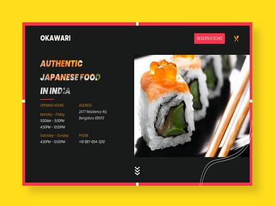 Concept Restaurant Header/Hero Section for Landing/Home Pages concept restaurant website design web design minimalistic website branding header hero section landing page visual design