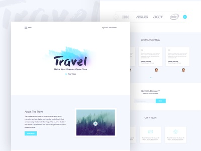 Travel Landing Page about page template psd free user interface onepage travel landing page