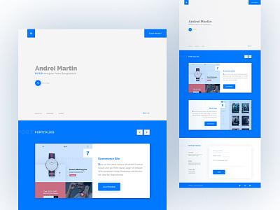 Personal Portfolio Web simple creative ux ui web resume personal portfolio