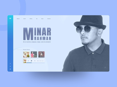 Exploration | Singer/Composer Web love bd dhaka ux ui typography visual layout design explore minar
