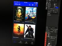 MEDIA Hd   desktop, ios, android movie app Concept